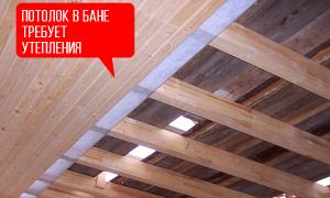Как и чем утеплить потолок в бане