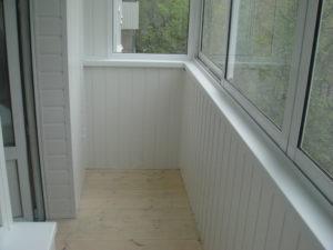 Финишная отделка балкона