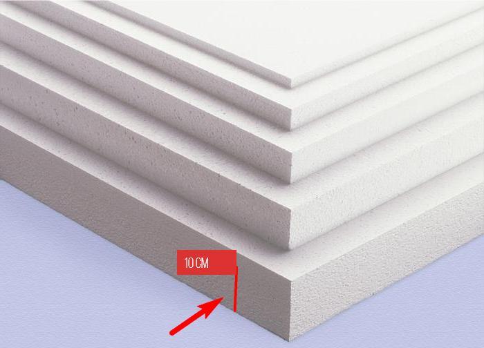 Пенопласт толщиной не менее 10 см