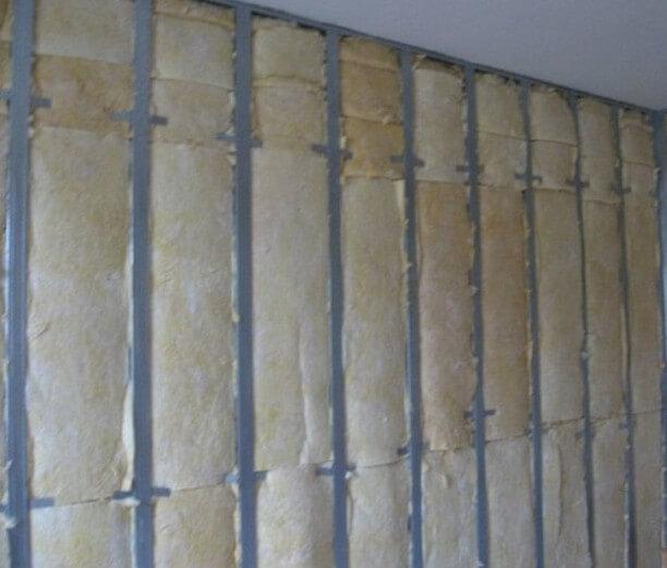 Утепление стены внутри минватой