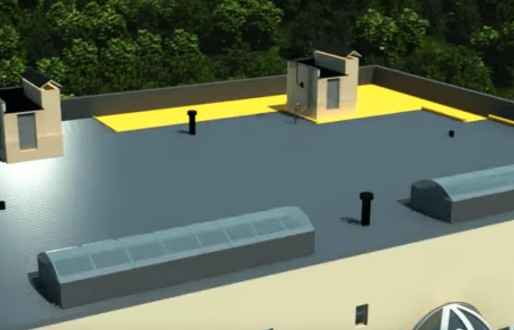 Большие площади утепления плоской крыши