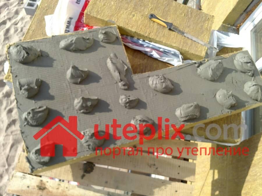 Клея на минераловатную плиту