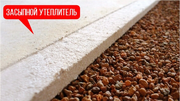керамзит толщиной 15-20 см