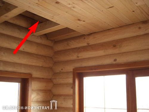 перекрытие деревянного дома