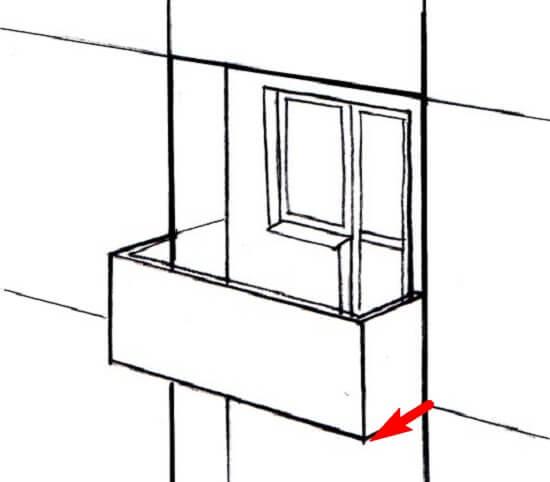 схема отличия балкона от лоджии