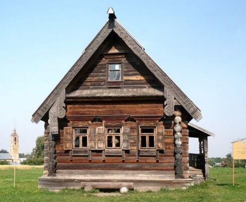 старинный русский дом