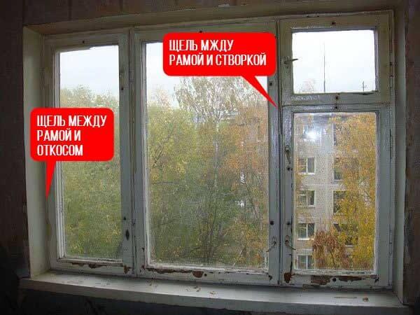 Старое окно схема