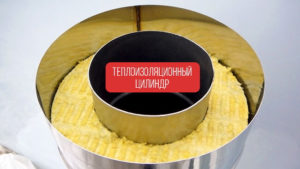 теплоизоляционный цилиндр для дымохода