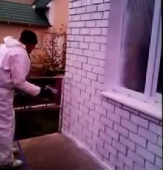 Нанесение теплоизоляции Броня на фасад
