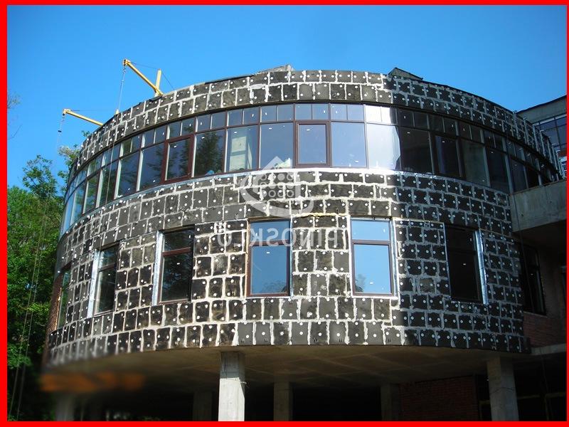 фасад здания утепленный пеностеклом