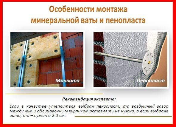 пенопласт и минвата что чаще используют