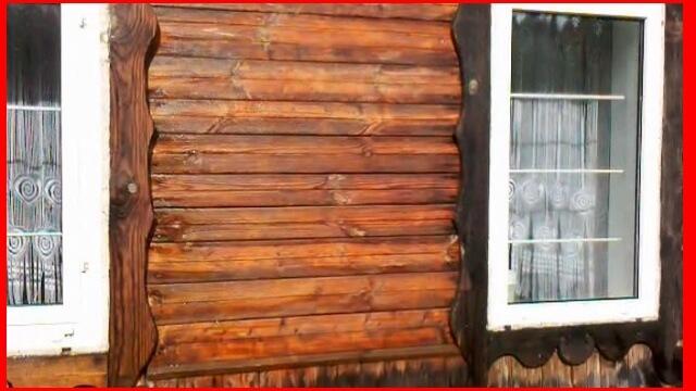 стены деревянного дома нужно очистить