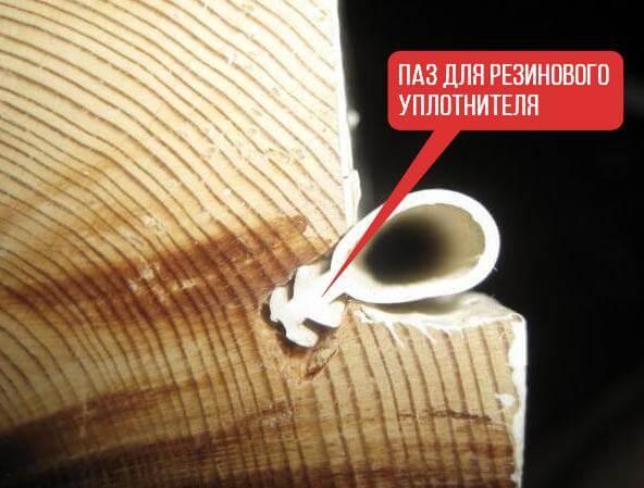 Паз для резинового уплотнителя