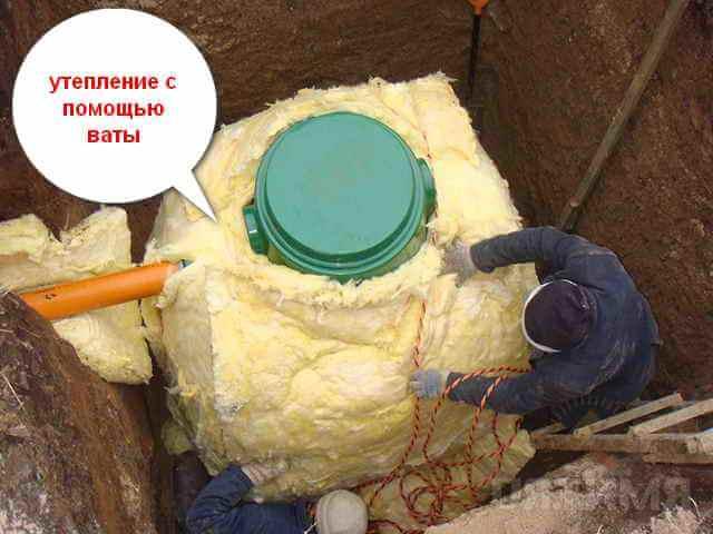 утепление скважин с помощью теплоизоляционного слоя - вата материал