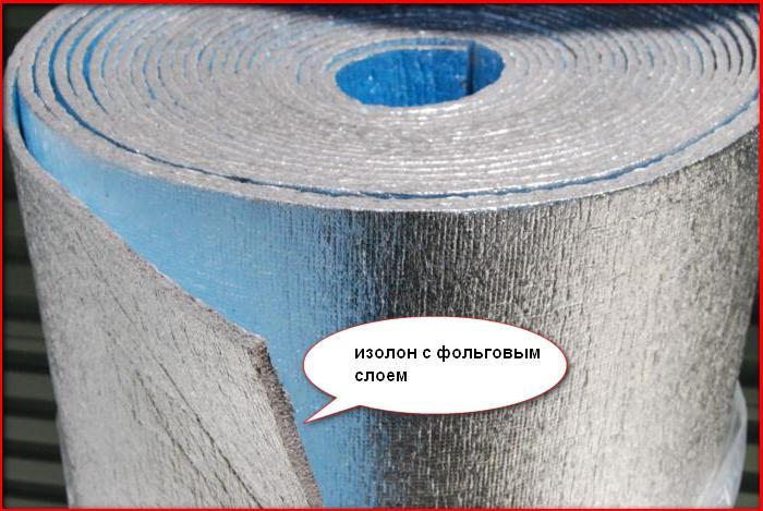 изолон с фольговым слоем