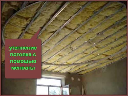 минвата утепление потолка