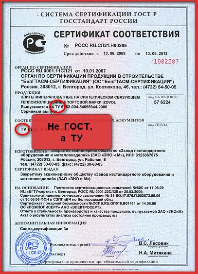 сертификат минваты