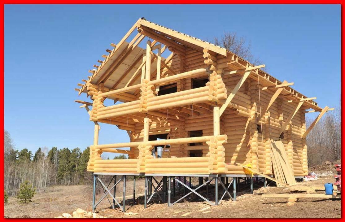 Фундамент под деревянный дом, сваи