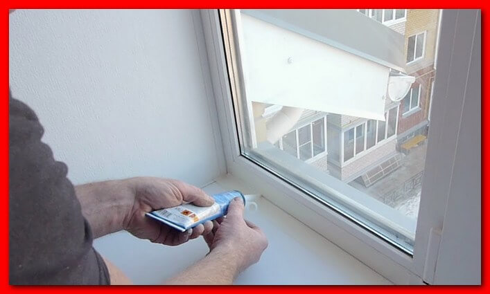 Герметизация оконной рамы на балконе в панельном доме