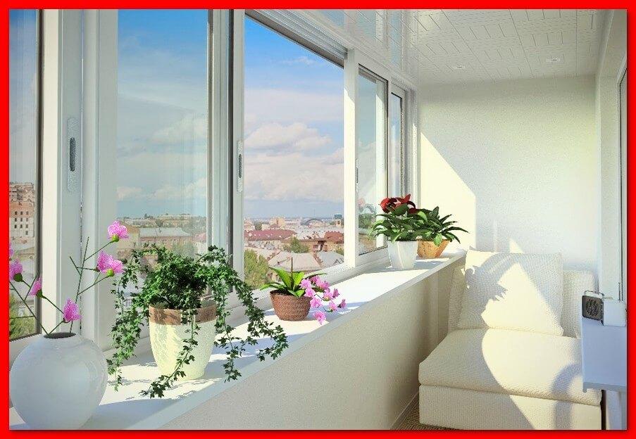 Красивый, теплый балкон