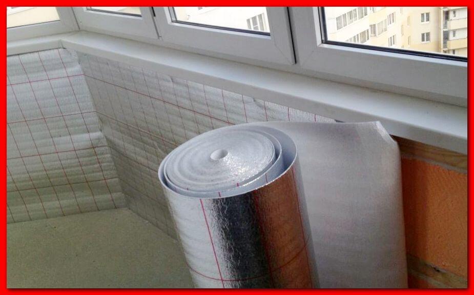 Пенофол, утепление балкона