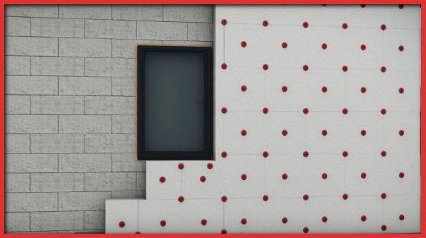 стены утеплены пенопластом