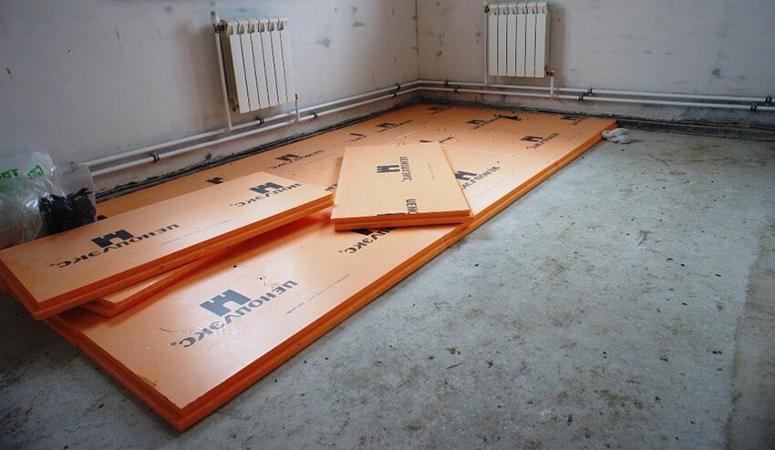 Утеплитель для пола по бетону под стяжку. Пеноплекс