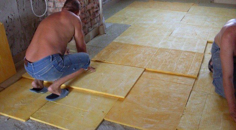 Утеплитель для пола по бетону под стяжку. Минвата