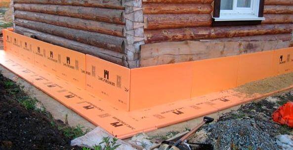 Утепление цоколя деревянного дома. ЭПП